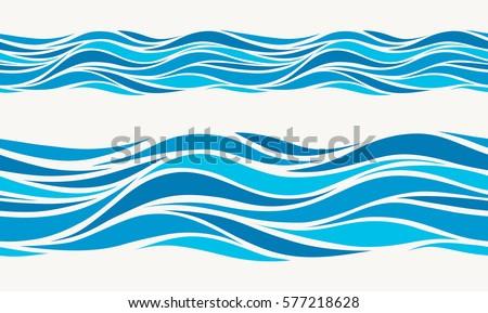 marine seamless pattern with