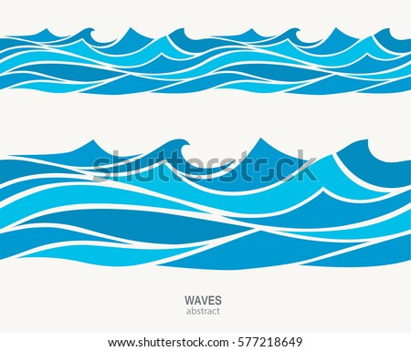 marine seamless pattern with