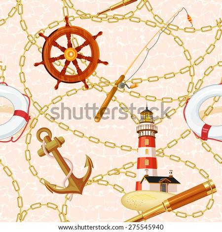 marine vector background with