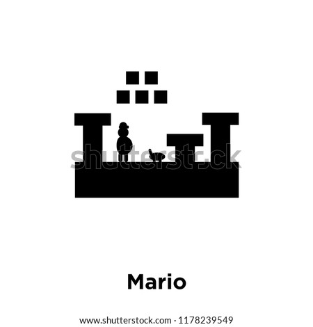 mario icon vector isolated on