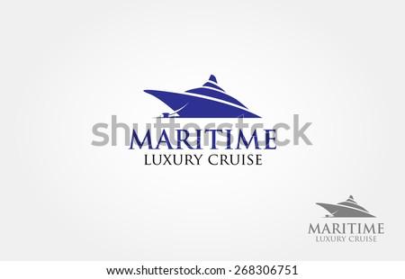 maritime luxury cruise logo