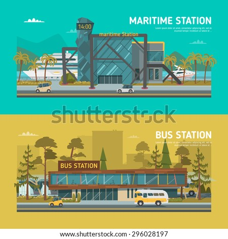 maritime station and bus station