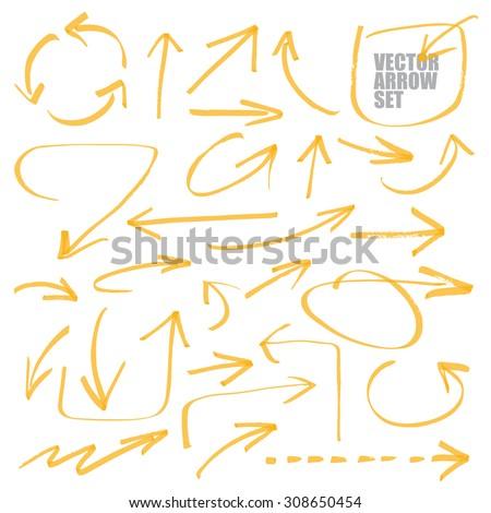 marker drawing series   arrows