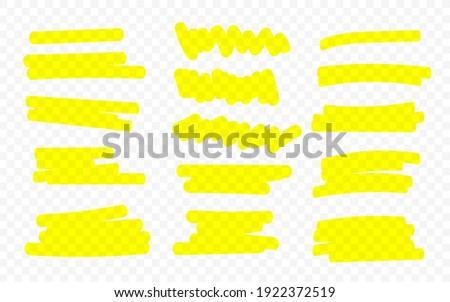 Marker lines. Vector highlighter brush lines. Hand drawing. Vector illustration. Foto stock ©