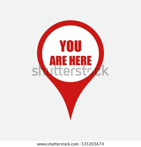 marker location icon with you