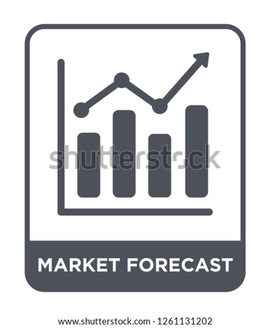 market forecast icon vector on white background, market forecast trendy filled icons from Cryptocurrency economy and finance collection, market forecast simple element illustration