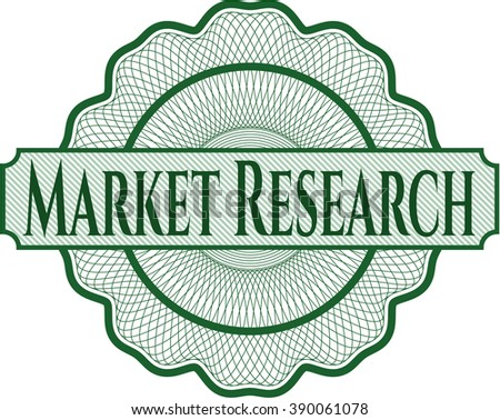 Market Research abstract rosette