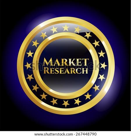 Market research blue shiny object