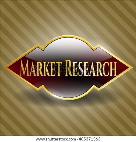 Market Research gold emblem