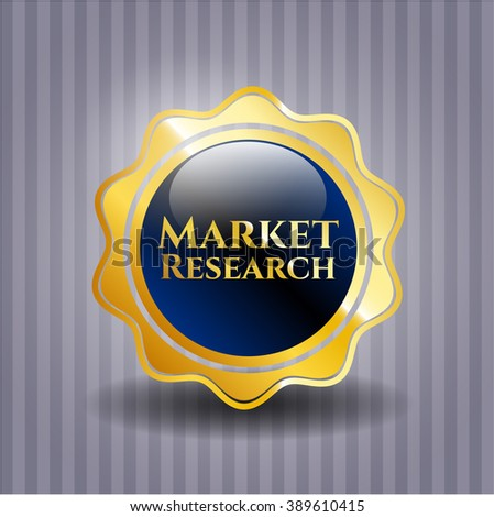 Market Research gold shiny badge