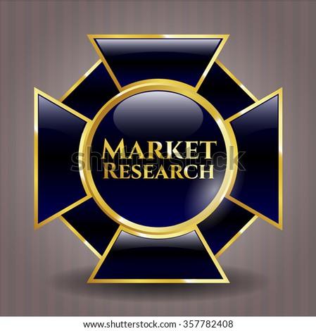 Market Research golden emblem
