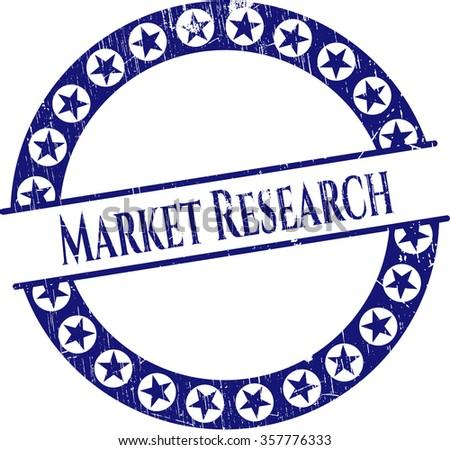Market Research grunge seal