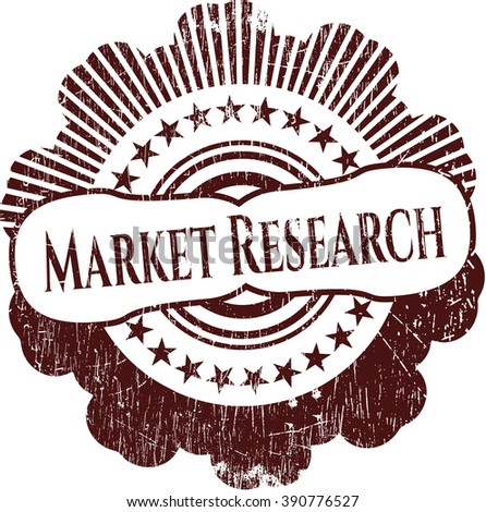 Market Research grunge style stamp