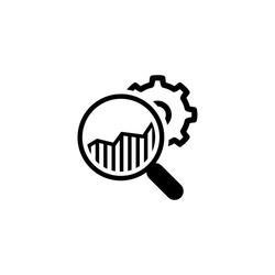 Market Research Icon. Flat Design. Isolated Illustration.