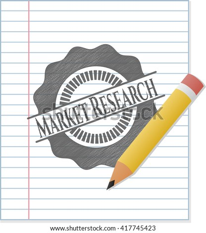Market Research pencil draw