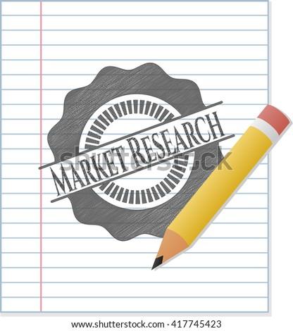 Market Research pencil draw