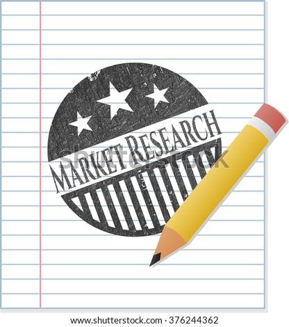 Market Research pencil emblem