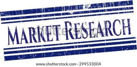 Market Research rubber grunge stamp