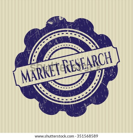 Market Research rubber grunge texture stamp
