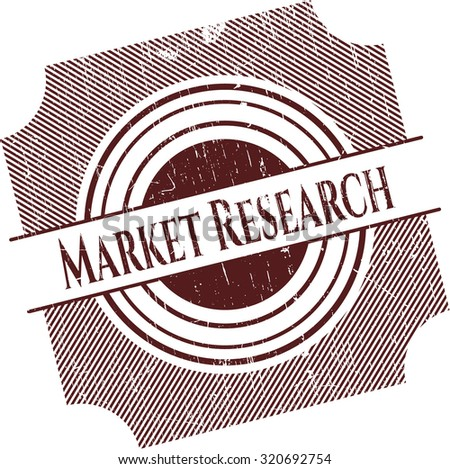 Market Research rubber seal with grunge texture