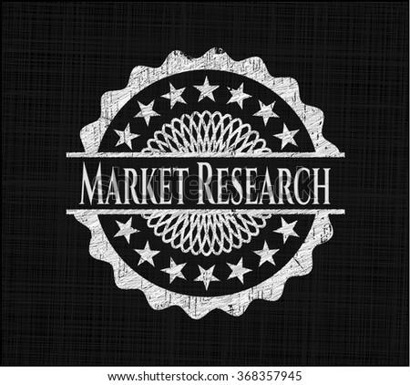 Market Research written on a chalkboard