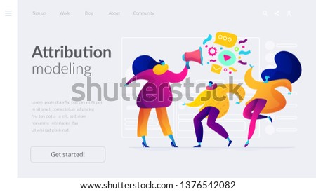 Market segmentation and adverts, target market and customer concept. Website homepage interface UI template. Landing web page with infographic concept hero header image.