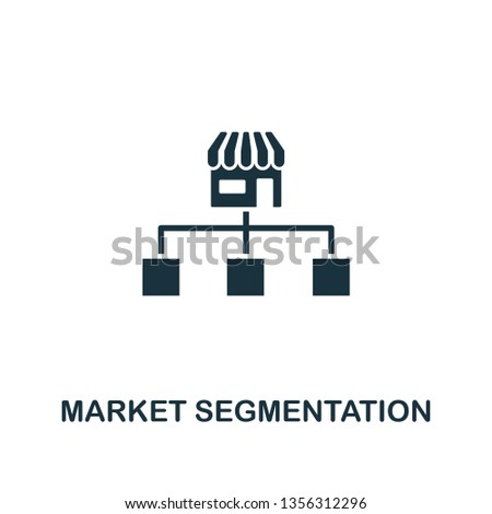 Market Segmentation icon. Creative element design from content icons collection. Pixel perfect Market Segmentation icon for web design, apps, software, print usage