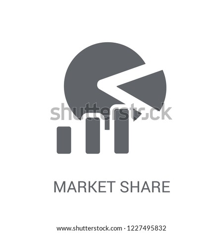 market share icon. Trendy market share logo concept on white background from General collection. Suitable for use on web apps, mobile apps and print media.