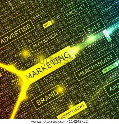 MARKETING. Abstract background.