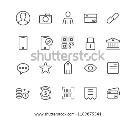 Marketing and App set icons, vector