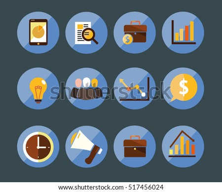 marketing and business icons for business presentation