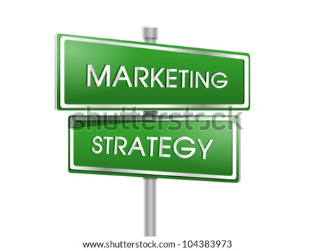 marketing and strategy sign