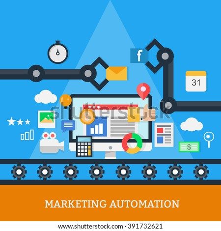 Marketing Automation Vector
