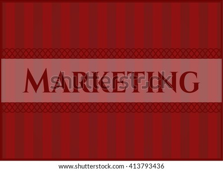 Marketing banner or poster