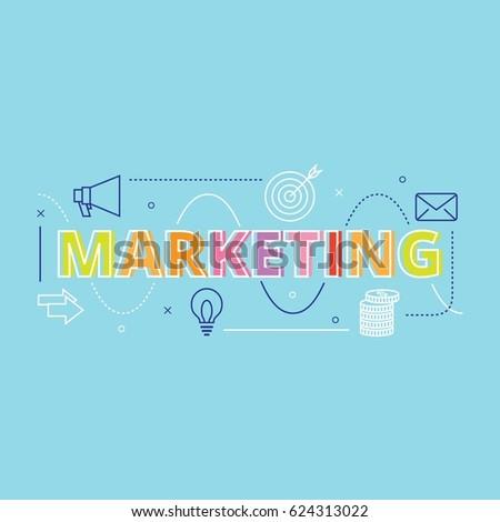 Marketing Business Concept Design Vector #624313022