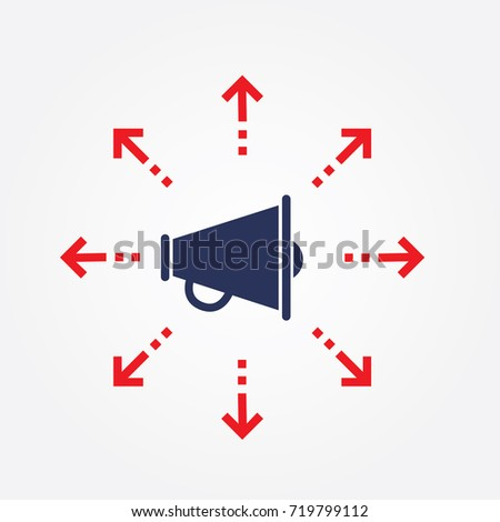 Marketing Campaign Icon Growth Sign Flat Isolated Vector Graphics