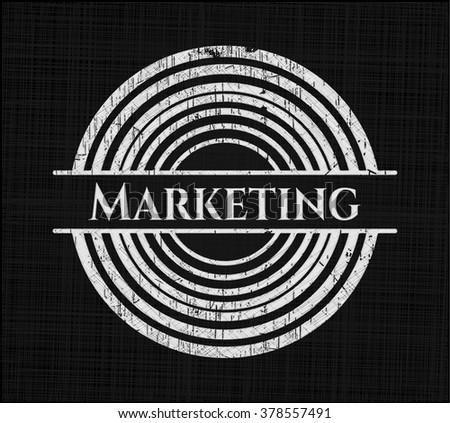 Marketing chalk emblem