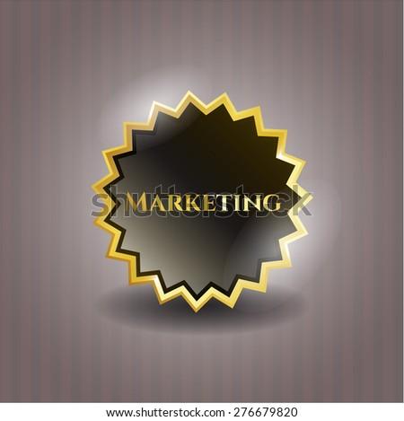 Marketing gold shiny badge