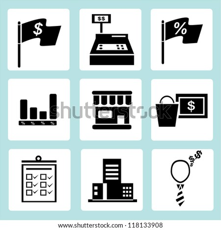 marketing icon set, financial icon set