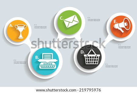 Marketing info graphics design,clean vector