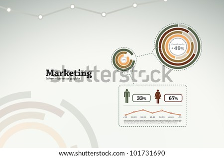 Marketing infographics for business statistics, reports, presentations, etc.