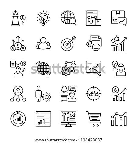 Marketing Plan Icons Pack