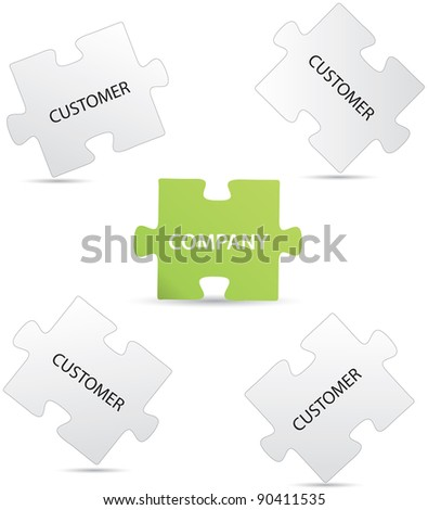 Marketing puzzle - stock vector