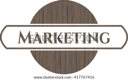 Marketing retro style wood emblem