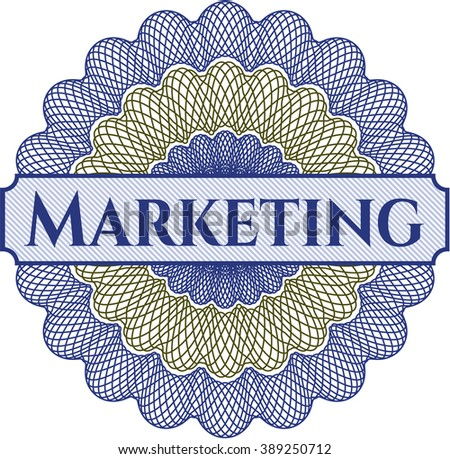 Marketing rosette (money style emplem)