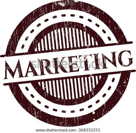 Marketing rubber grunge seal