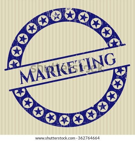 Marketing rubber grunge stamp