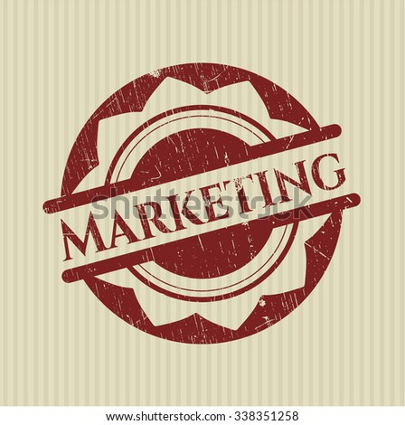 Marketing rubber grunge texture seal