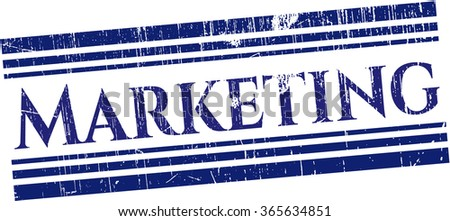 Marketing rubber seal with grunge texture