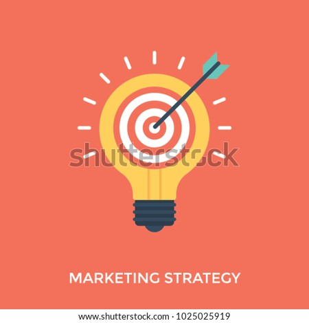 Marketing strategy illustration, innovative marketing techniques  #1025025919